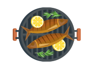 Icon of grilled fish