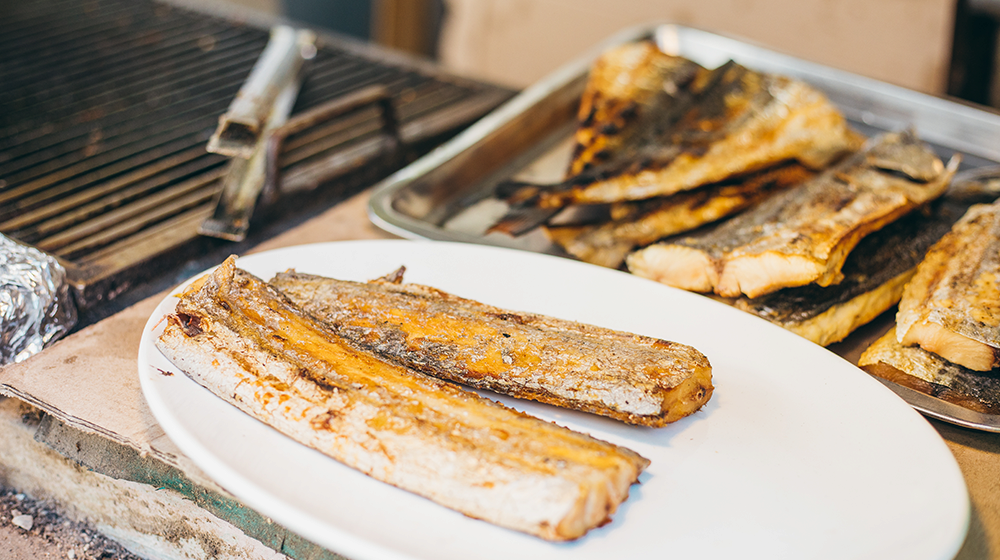Plated grilled fish