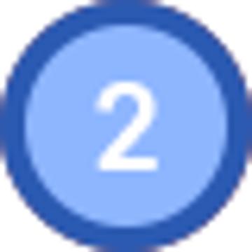 동그라미 안에 2이라고 적혀있다.
