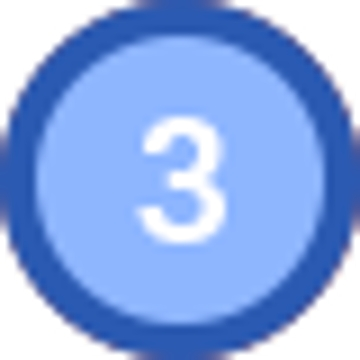 동그라미 안에 3이라고 적혀있다.