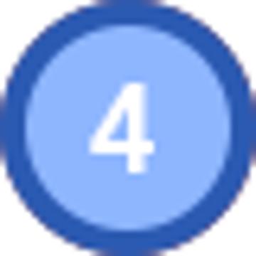 동그라미 안에 4이라고 적혀있다.