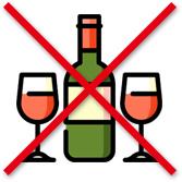 Tolong jangan masukkan alkohol dalam makanan.