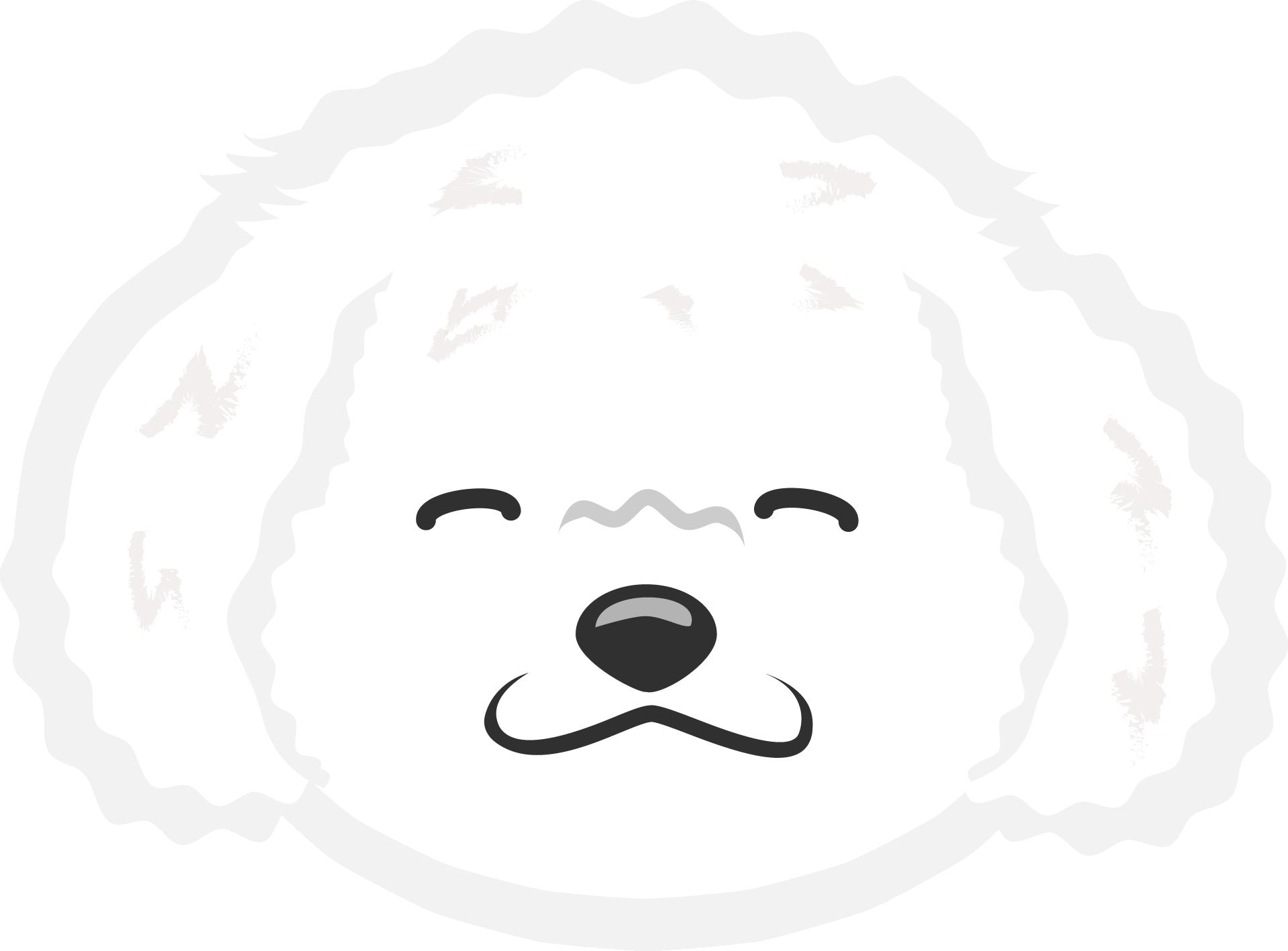 Картинка улыбающийся мордочки белого щенка