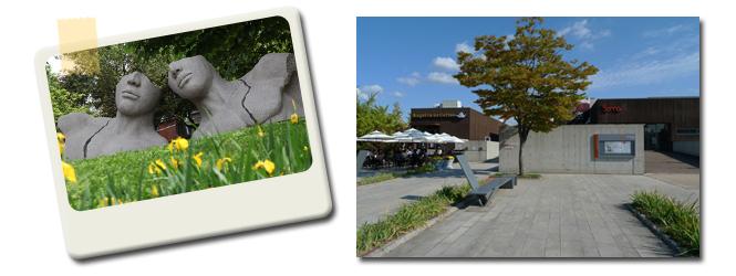 올림픽공원조각품과 소마미술관 전경